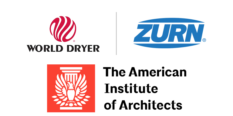 World Dryer + Zurn + AIA Logos