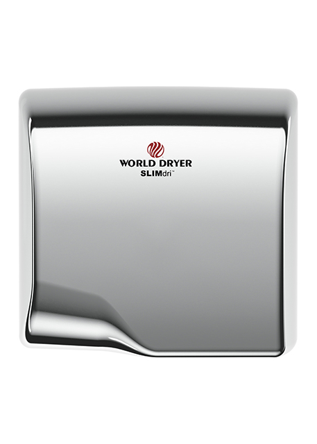 ; Automatic Sensor 110-240V WORLD L-974 White Aluminum SLIMdri Hand Dryer