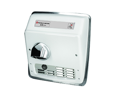 White Recess Airmax hand dryer